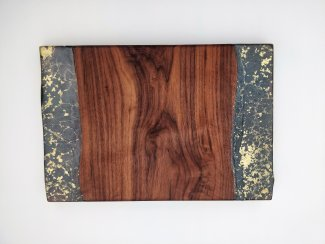 serving platter american black walnut with resin